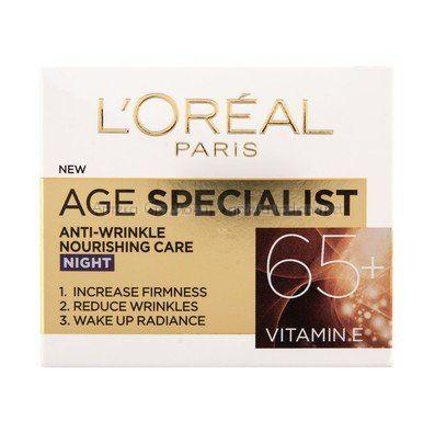 Лореал / Loreal Age Specialist 65+ Подхранващ нощен крем..